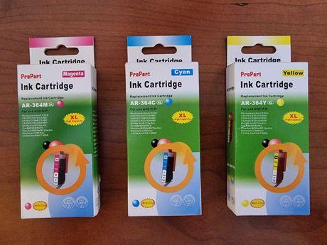 Kit Tinteiros HP 364XL ProPart Amarelo Magenta Azul