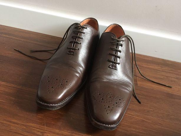 Włoskie buty skórzane r. 44 męskie brązowe Zeno B stan bdb ITALY
