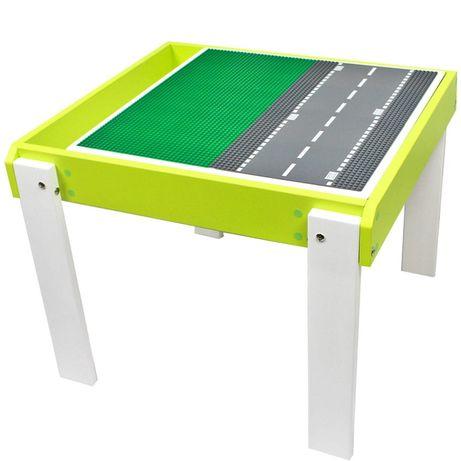 Крутой детский столик для игр с ЛЕГО, песочница стульчик стол