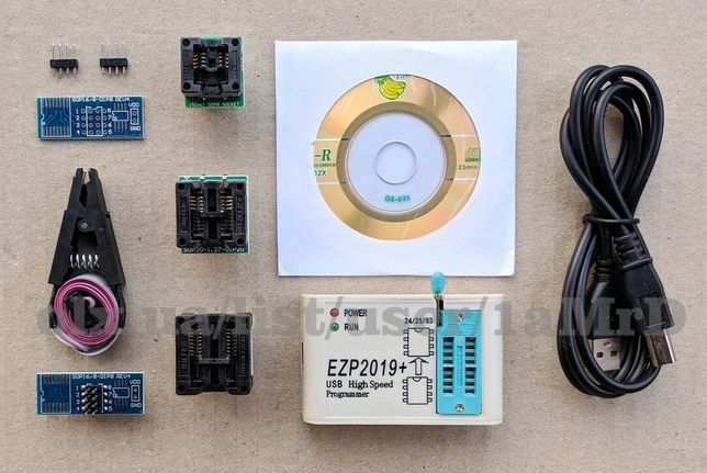 USB программатор EZP2019+ и адаптеры / Программатор EZP2010 / CH341A
