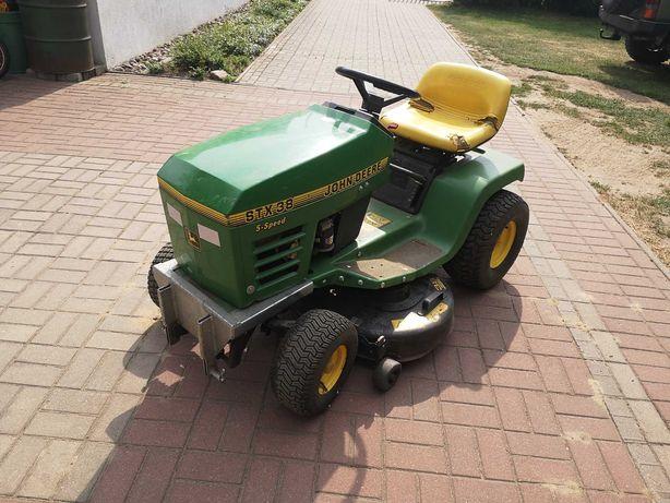 John Deere Stx 38 traktorek kosiarka zamiatarka
