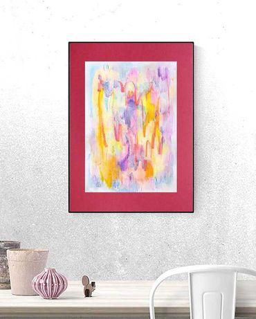 energetyczny rysunek A3, nowoczesny obraz, abstrakcja akwarela
