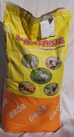 Pasza, karma, granulat dla kaczek, gęsi 20 kg UNIPASZ !