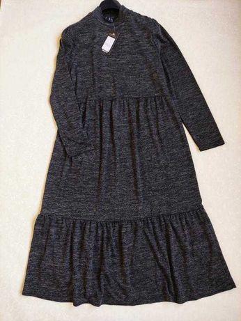 Ярусное демисезонное платье с длинным рукавом от new look