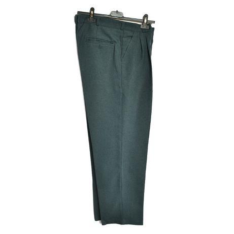 spodnie zielone szare popielate pas 90