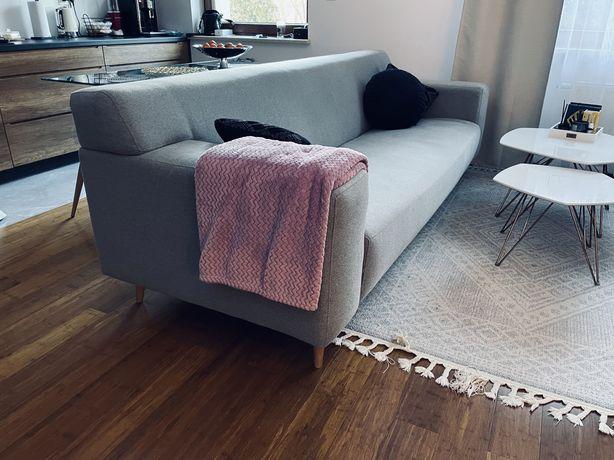Sofa Dwie Sofy szare 3/4 osobowe idealne jak nowe