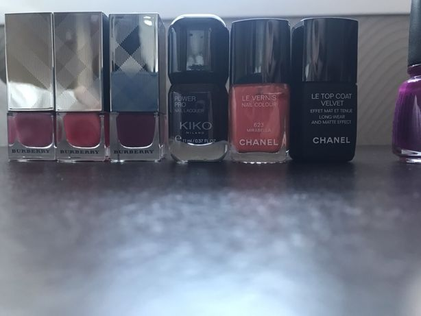Lakiery Chanel, Kiko, Blueberry