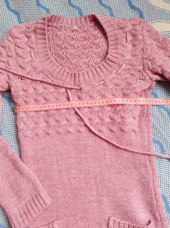 Теплое платье туника для девочки