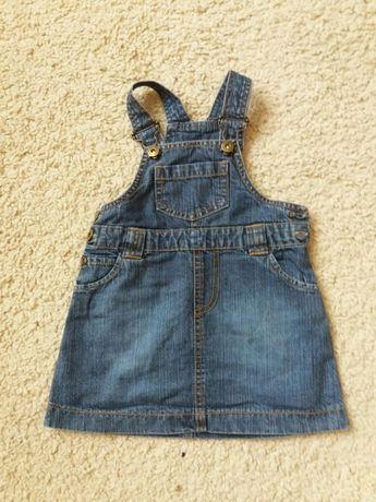 kapphal sukienka  jeans rozm 74
