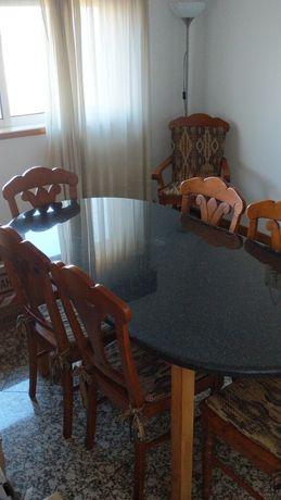 Mesa sala jantar em marmore + peça extra