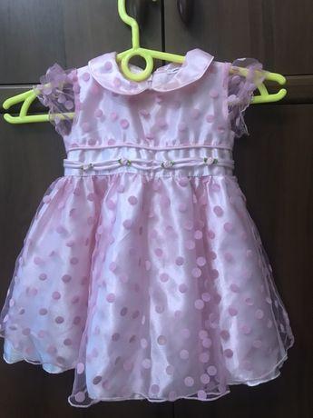 Нарядное платье для девочки рост 86