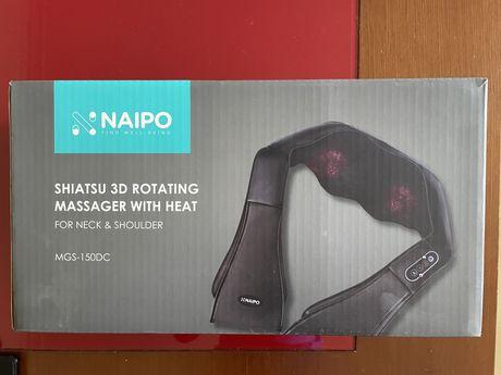Massajador Eléctrico (3x velocidades, aquecimento) -  Naipo