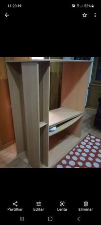 Movel tv + estante 6 prateleiras