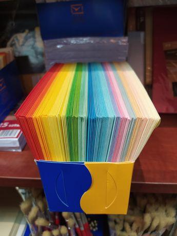 Koperta C6 z papierem listowym, mix kolorów Logos