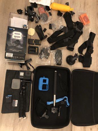 Kamerka GoPro 8 Hero Black Gwarancja jak Nowa Zestaw Sportowa 4k HD SD