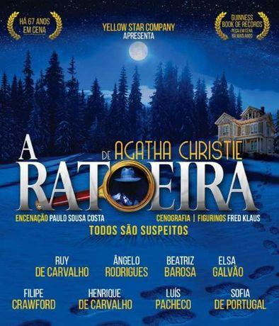 """Bilhetes Teatro """"A Ratoeira"""", Coliseu do Porto, 25 de Setembro"""