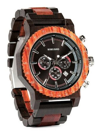 Drewniany zegarek Bobo Bird, praktycznie nieużywany !