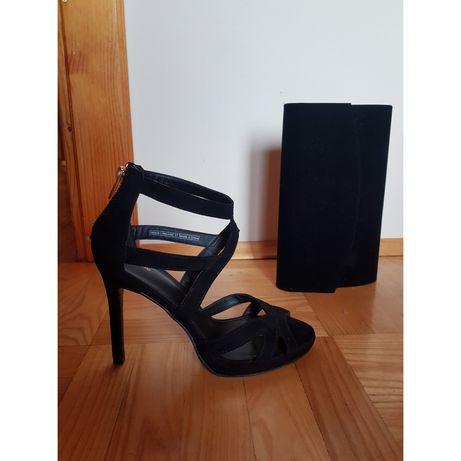 Szpilki sandały czarne PIMKIE nowe 37 zamszowe