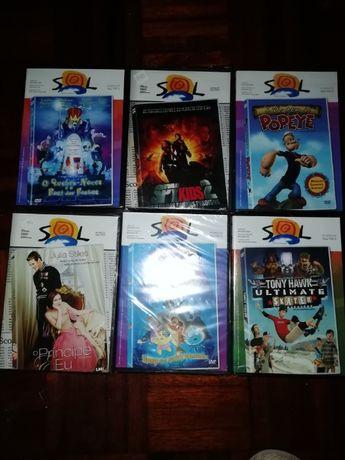 Filmes infantis em DVD (novos)
