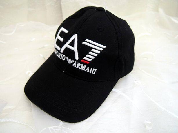 Emporio Armani truckerka męska czarna czapka z daszkiem hit