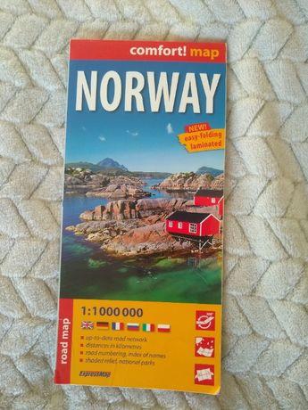 Mapa samochodowa Norwegii, Comfort map