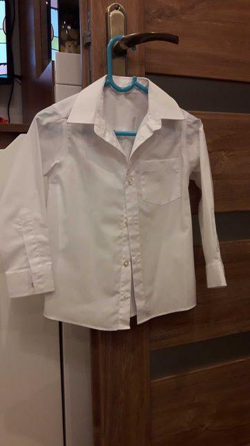Koszula biała elegancka chłopięca rozmiar 98 długi rękaw
