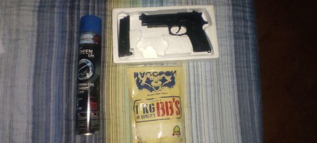 Pistola airsoft M9 GGB com blowback