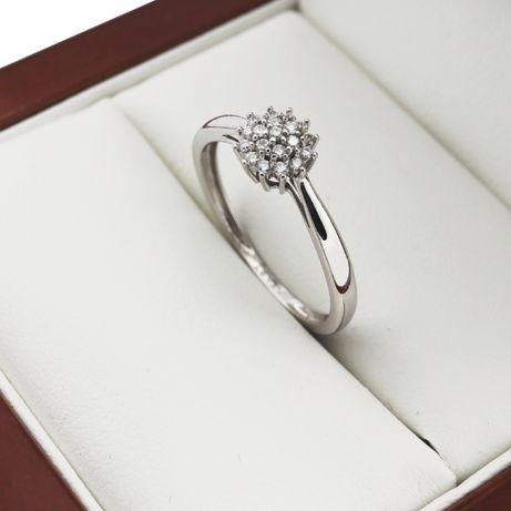 APART Pierścionek z Brylantem 0.1 CT Złoty 585 Zaręczynowy z Diamentem