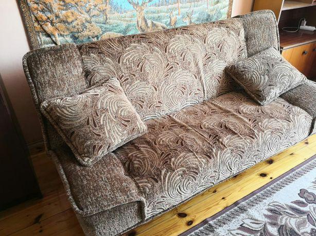 Zestaw kanapa fotele pufy + gratis