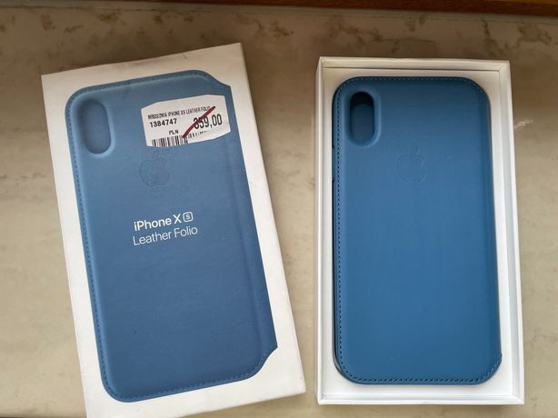 Oryginalny case apple iPhone X xs leather NOWY