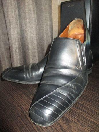 мужские туфли р.44 Итальянские натуральная кожа б\у