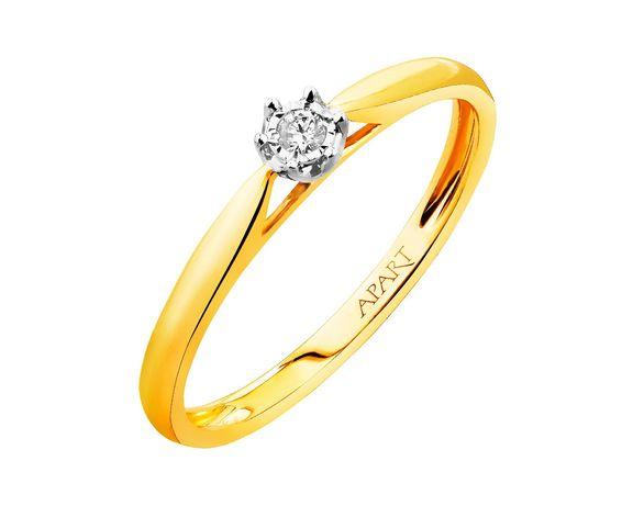 Śliczny pierścionek Apart z diamentem!!