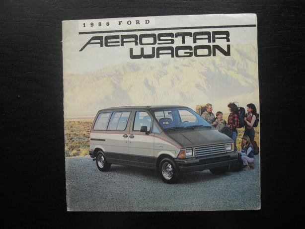 Ford Aerostar Prospekt Aerostar Katalog Ford Aerostar 1986