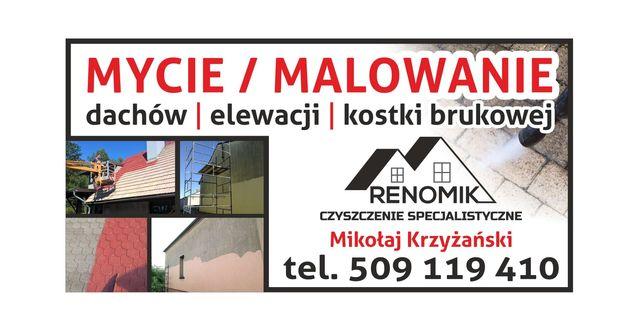 Mycie Dachów Elewacji Kostki Brukowej. Malowanie dachów Elewacji