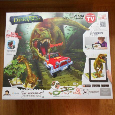 Zabawka Dino Mundi atak Tyranozaura, aplikacja, karty, dinozaur