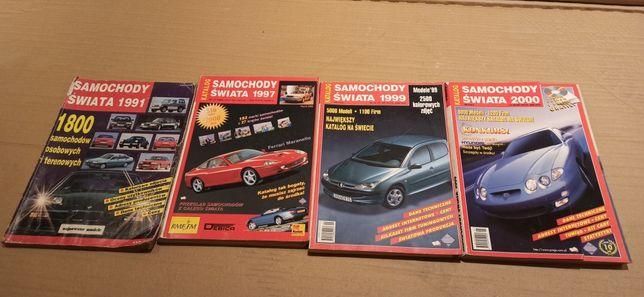 Samochody świata katalogi 1991 zestaw 4sztuki