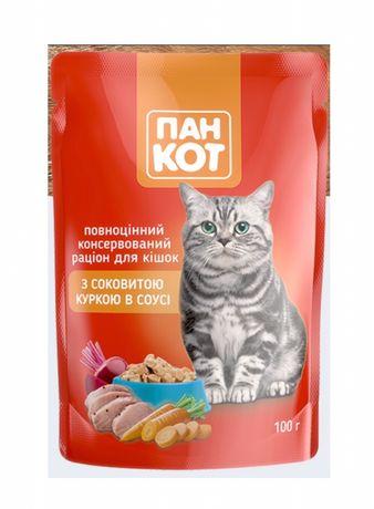 Влажный корм для кошек Пан Кот