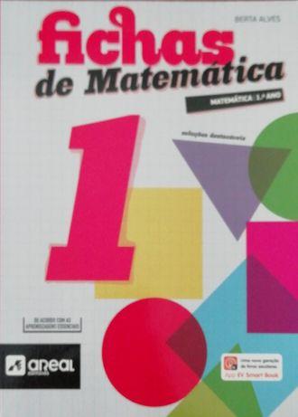 """Livro escolar novo """"Fichas de Matemática 1"""""""