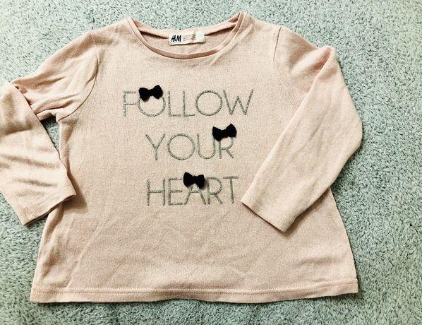 Sweterek H&M -dziewczynka 98-104