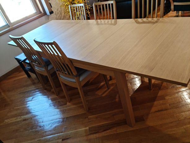 mesa de jantar e escritório e cadeiras