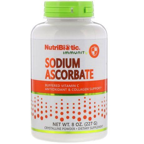 Буферизованный витамин C, NutriBiotic, Sodium Ascorbate