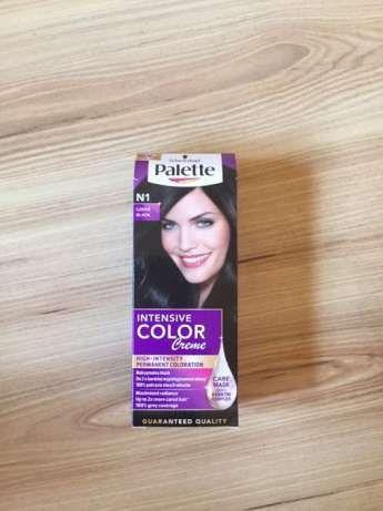 Farba do włosów Palette nr N1, C1 Granatowa czerń, i Intensywna Czerń