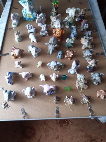 Slonie z porcelany
