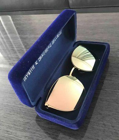 MYKITA BEVERLY złoty szampan okulary przeciwsłoneczne