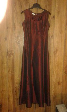 Bordowa sukienka r.34 r.36 wieczorowa