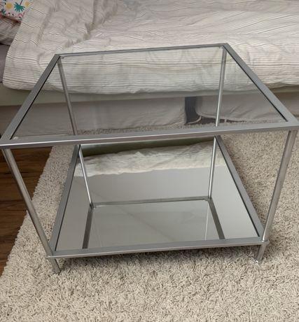 Szklany lustrzany stolik kawowy