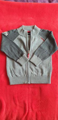 Szary sweterek rozpinany r. 92
