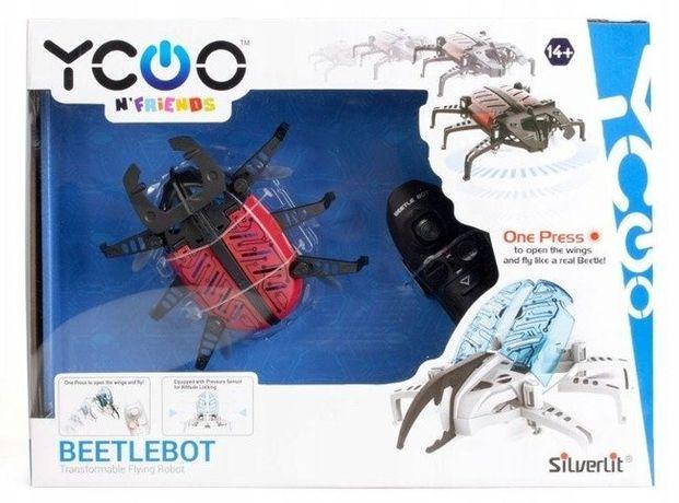 Czerwony interaktywny w pudełku nowy chrząszcz z funkcją drona.