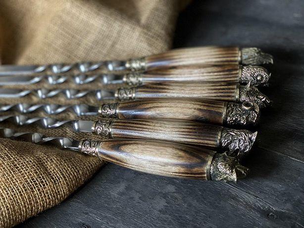 Подарочный набор шампуров, шампура ручной работы. Подарок мужчине.Киев