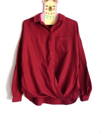 New Look koszula kopertowa XS/S guziczki kieszonka hot klasyka basic
